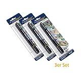 HMF 3600-02 - 3 x Geldscheinprüfstift, Geldschein Schnelltester, 2 in 1 Geldprüfer inkl. Kugelschreiber