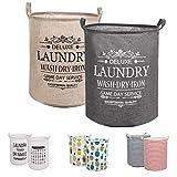 LessMo 2PCS 19.7' Wäschekorb Sortierer - Faltbar - 2er Set Wäschesammler spart Zeit beim Sortieren - Wäschesack - Wäschekörbe - Laundry Baskets - 50 x 40 cm (Grün/Gelb, Verdickt 19'/ Groß)