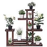 COSTWAY Pflanzenregal Blumenregal Blumenständer Blumentreppe Pflanzentreppe Garten Holzregal Holz mehrstöckig 100x25x97cm