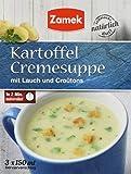 Zamek Kartoffel Cremesuppe · Kartoffelsuppe mit Croûtons · instant Tassensuppe · 3er Pack · ergibt 3 Tassen à 150 ml, 13er Pack (13 x 45 ml)