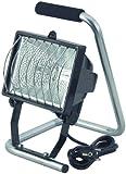 Brennenstuhl Halogenstrahler / Flutlicht Halogen ideal als mobiler Baustrahler (Außenstrahler IP44 geprüft, 1,5m Kabellänge, 400 Watt) Farbe: schwarz
