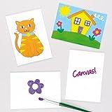 Malkartons für Kinder Zum Bemalen und Gestalten (5 Stück)