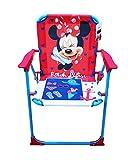 takestop Klappstuhl Minnie Minnie Disney Fuchsia Blau für Kinder Kinder Kinder/Kinderzimmer Meer Strand Garten aus Metall und Kunststoff mit Armlehnen tragbar Leichtes 53x 38x 39cm