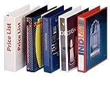 Esselte 49709 Ringbuch Präsentation, mit Taschen, A4, PP, 2 Ringe, 30 mm, weiss