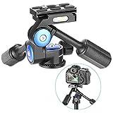 Neewer 360 Grad drehbarer Stativkopf 3-Wege Kugelkopf mit 1/4 Zoll Schnellwechselplatte für Stativ, Einbeinstativ, Kamera Schiebenregler, Licht Stativ, Belastbarkeit bis zu 10 Kilogramm