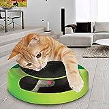 """Tech Traders, bewegliches Katzenspielzeug """"Fang die Maus"""" aus Plüsch mit Kratzmatte für die Krallenpflege"""