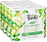 Amazon Marke -  Presto! 3-lagiges Eco - Toilettenpapier