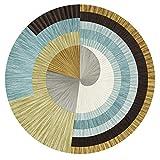 ZZKJCHENJIAN Runde Yogamatte/Meditationsmatte, Rutschfester Teppich, Fußmatte, zart und weich - für Männer und Frauen, Durchmesser 80 cm, A