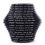 18pcs Stück Filter-Ring Objektiv Adapter Adapter-Set 37 49 52 55 58 62 67 72 77 + 82mm Step Up Step Down DC453