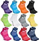 12 Paar Sportliche Socken Moderne Originelle bunte Socken in 12 modischen Farben; in der EU produziert; Größen 44-46. Ideal, wenn der Fuß frei atmen muss. Höchste Qualität. Öko-Tex!