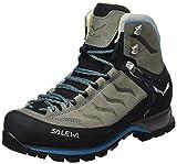 Salewa Mountain Trainer Mid Leder - Halbhoher Bergschuh Damen, Damen Trekking- & Wanderstiefel, Grau (Pewter/Ocean 4053), 38 EU (5 Damen UK)