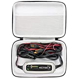 Khanka case Transporttasche Reise Fall Tasche für CTEK XS 0.8 Vollautomatisches Batterie-Ladeerhaltungsgerät 12V, 0,8 A EU Stecker. (Für CTEK XS 0.8)