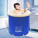 AXYP Aufblasbare Badewanne für Erwachsene Isolier-Baby-Schwimmbecher Badeeimer Bade-Eimer Collapsible blau (größe : 70 * 70cm)
