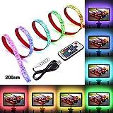 LED TV Hintergrundbeleuchtung, SOLMORE USB LED Strip 2M Streifen LED band rgb lichter lichterkette leiste USB-Verbindung für TV Küchenschrank Wandschrank Zimmer Deko
