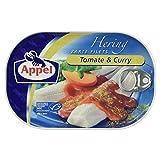 Appel Heringsfilets, zarte Fisch-Filets Tomate und Curry, MSC zertifiziert, 200 g
