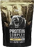 nu3 Protein Complex   Vanille Geschmack   1kg Proteinpulver   Whey, Milch, Ei Mehrkomponenten 3K Protein   Gute Löslichkeit bei über 5,3 g BCAAs pro Portion   Kraftsport optimiert