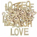 Vintage Holzbuchstaben Buchstaben natur XL aus Holz Alphabet ABC 104 tlg.