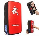 Overmont PU Leder Schlagpolster Schlagkissen Kickschild Boxsack für Kickboxen Thaiboxen Karate UFC MMA 40cm*20cm*10cm