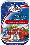 Appel Appel Heringsfilets in Tomaten-Creme, Konserven, Fisch in Tomatencreme, 12er Pack (1 x 100 g)