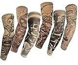 HaimoBurg 6 Stück Temporäre Gefälschte Slip Tattoo Sleeves Arm Strümpfe