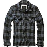 BRANDIT Check Shirt Black-Grey M