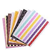 SevenMye Farbige Fotoecken, selbstklebend, für Bastelprojekte, Scrapbooks, Fotoalben, Tagebücher etc., 9 Farben, 18 Bögen