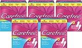 Carefree flexiform/Flexible, luftdurchlässige Slipeinlage mit Frischeduft/Für Slips und Tangas geeignet/5 x 56er Pack