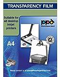 PPD DIN A4 Inkjet Transparentfolie - OHP Overheadfolie für Tintenstrahldrucker mit Sensorstreifen, DIN A4 x 5 Blatt PPD34-5