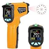 Infrarot Thermometer AD50 IR Laser Digital Thermometer -50°C bis 600°C kontaktfreies mit Farbe lcd 12-Punkte-Laserkreis Farbbildschirm Alarmfunktion bei Über/Unterschreitung der Temperatur