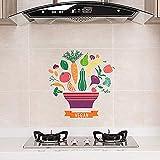 100g selbstklebendes Papier Herd Hochtemperatur-Anti-Öl-Aufkleber Paste Küchenfliese Rauch Wand