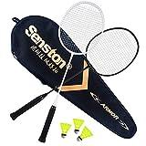 Senston X1100 Graphit Badminton Set Carbon Badmintonschläger Graphit Badminton Schläger mit Schlägertasche