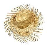 Schramm Onlinehandel S/O 10er Pack Strohhut Hawaii mit Fransen Bast Hut Stroh Hüte Hawaii Party