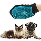 Ploopy Fellpflege Handschuh, Hundebürste katzenbürste handschuh, fellpflege handschuh für katzen, Fellpflege Hundebürste mit Gummi Noppen Blau