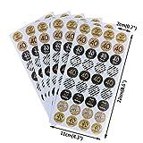 7thLake 216pcs Jubiläumsparty Aufkleber Etiketten, 30./40./50. Geburtstag Siegel Aufkleber Pot Kennzeichnung DIY Geschenkverpackung