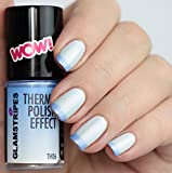 THERMO NAIL POLISH EFFECT - PEARL WHITE TO LIGHT BLUE - NEW! THERMO NAGELLACK