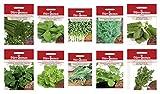 Dürr-Samen Kräutersamen Sortiment 2 mit 10 Sorten - Schnittlauch Oregano Basilikum Petersilie Dill Rauke Thymian Koriander Salbei und Kresse