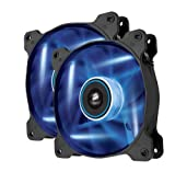 Corsair AF120 LED Quiet Edition High Airflow LED PC-Gehäuselüfter (120mm, Dual Pack) blau