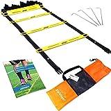 Koordinationsleiter von gipfelsport - Trainingsleiter Set, 4m mit Tasche und Heringen | Geschwindigkeitsleiter | Agility Speed Ladder für Fussball, Fitness, Sport, Handball, Football | + Gratis eBook
