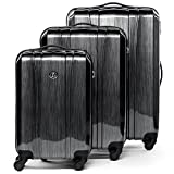 FERGÉ Dreier Kofferset Dijon Trolley-Koffer neu Reisekoffer leicht | Set 3-teilig Hartschalenkoffer mit 4 Komfortrollen (360°) | Koffer Hartschale graphite-metallic | PREMIUM-QUALITÄT
