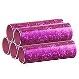 Silber Metallic Luftschlangen im 5er Sparpack - 5 Rollen mit je 18 holografisch-glitzernden Luftschlangen - für Karneval, Fasching, Geburtstag, Silvester, Dekoration - PARTYMARTY GMBH