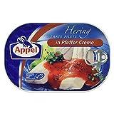 Appel Heringsfilets, zarte Fisch-Filets in Pfeffer-Creme, MSC zertifiziert, 200g