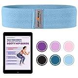 Sport2People elastisches Fitnessband für Beine und Hintern - kostenlosen Ebook für Po-Übungen- Fitnessbänder Set aus Stoff für Hintern und Hüfte- Sportband für Krafttraining, Hausgymnastik, Fitness