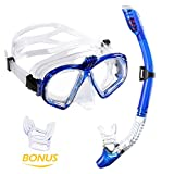 WEINAS Premium Schnorchelset Taucherbrille mit Schnorchel (gopro stand) 100% wasserdichte +Komfort-Gummiband diving mask Erwachsene