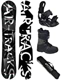 Airtracks Snowboard Set - Wide Board REFRACTIONS Game 165 - Softbindung Star - Softboots Star SCHWARZ 40 - SB Bag