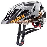 Uvex Fahrradhelm quatro Allmountain-Helm mit Größenverstellsystem für Erwachsene in grau