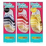 Decocino Lebensmittelfarbe HOCHWERTIGE Lebensmittelfarb-Pasten von DEKOBACK | Lebensmittelfarbe zum Backen und Dekorieren | Spar-Set 6 verschiedene Farben (6 x 25 g) Lebensmittelfarbe kaufen