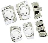 Powerslide Damen Schoner Standard Tri-Pack, Weiß, M, 901325/4