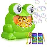 MerryXGift Seifenblasenmaschine, automatischer Frosch Bubble Blower Machine Machen über 500 Bubbles pro Minute für Kindergeburtstagsfeier (Frosch)