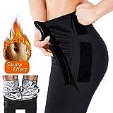 EGEYI Womens abnehmen Hosen Hot Thermo Neopren Sweat Sauna, Gewichtsverlust Hosen Sauna Hosen, Schwitzhose für Frauen Fettverbrennung (M)