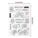 ECMQS Lovely Squirrel DIY Transparente Briefmarke, Silikon Stempel Set, Clear Stamps, Schneiden Schablonen, Bastelei Scrapbooking-Werkzeug